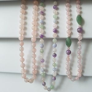 Jewelry - Gemstone Beaded Necklaces - set of 3